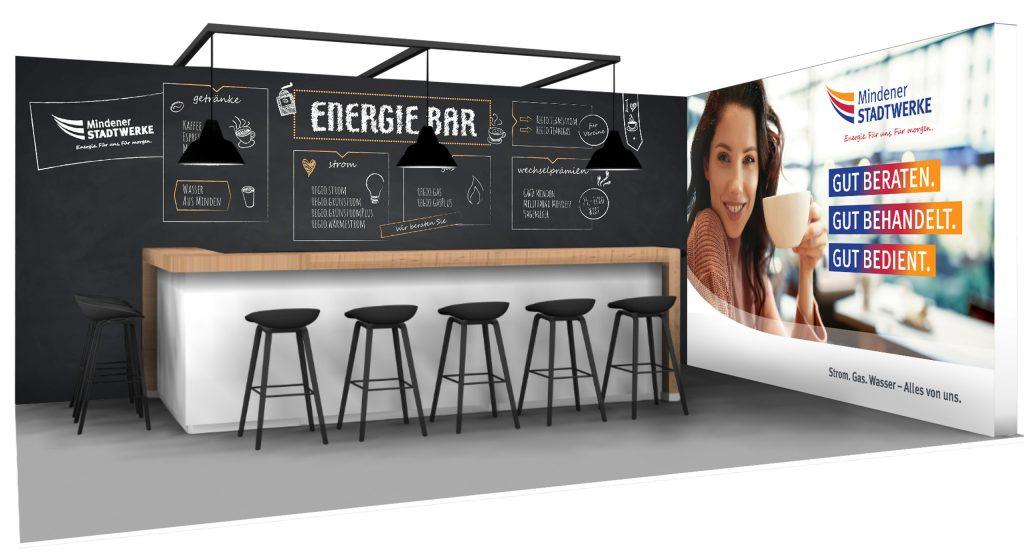 Die Energie-Bar – der besondere Messestand für Stadtwerke